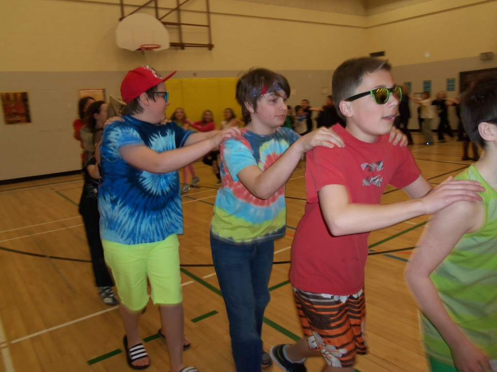 Happy Dance at St. François Xavier School
