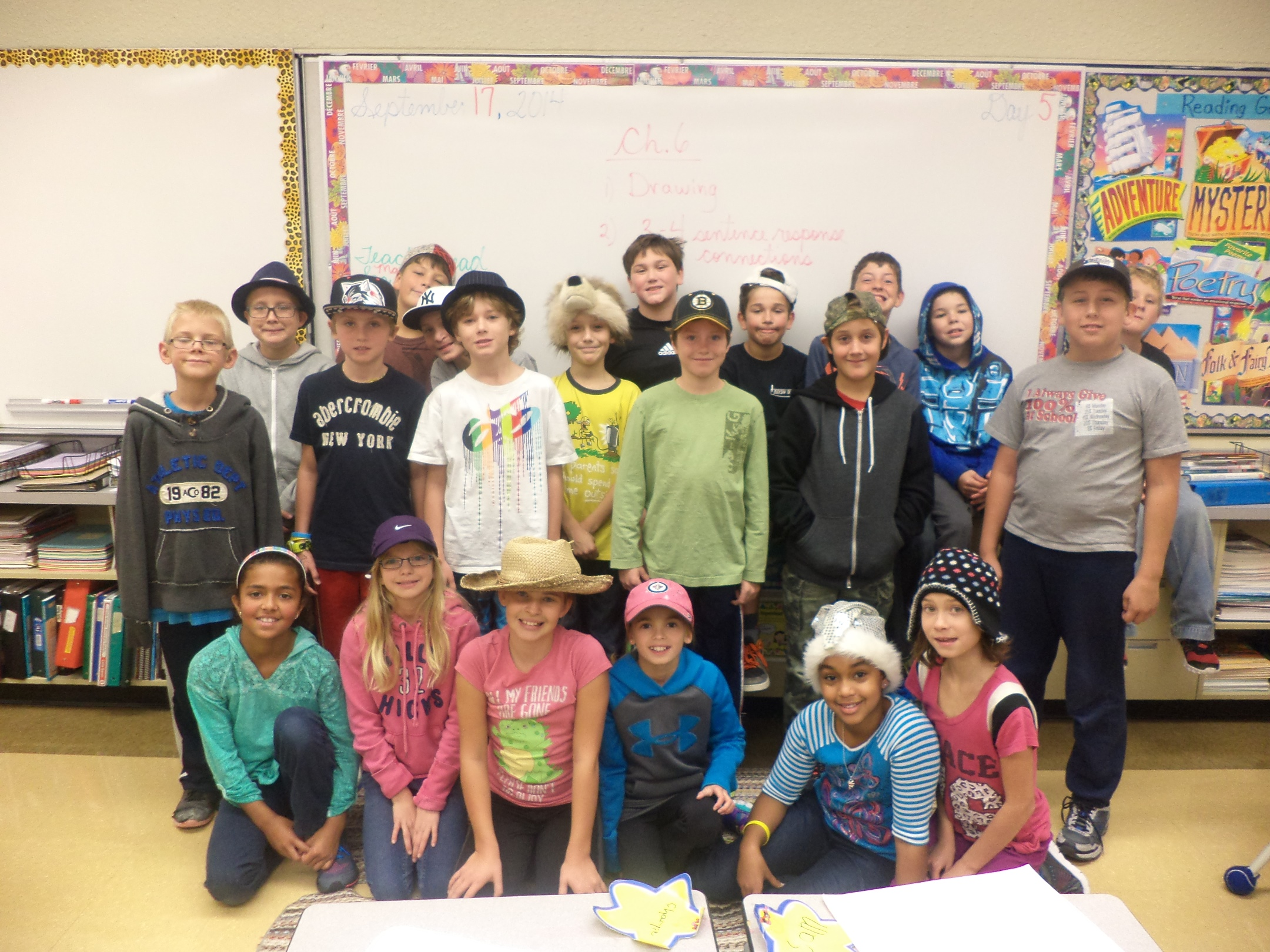 Carman Elementary Hat and Gum Day