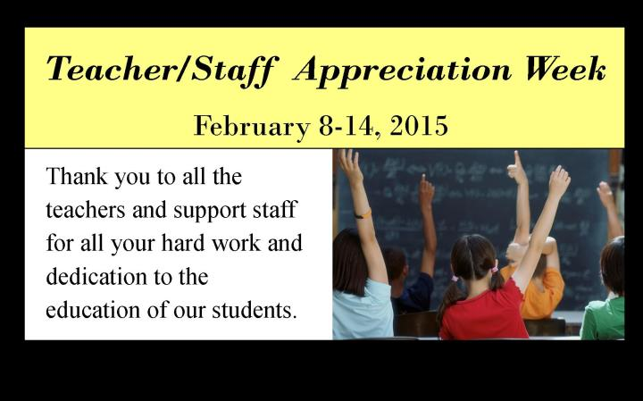 teacher and support staff appreciation week