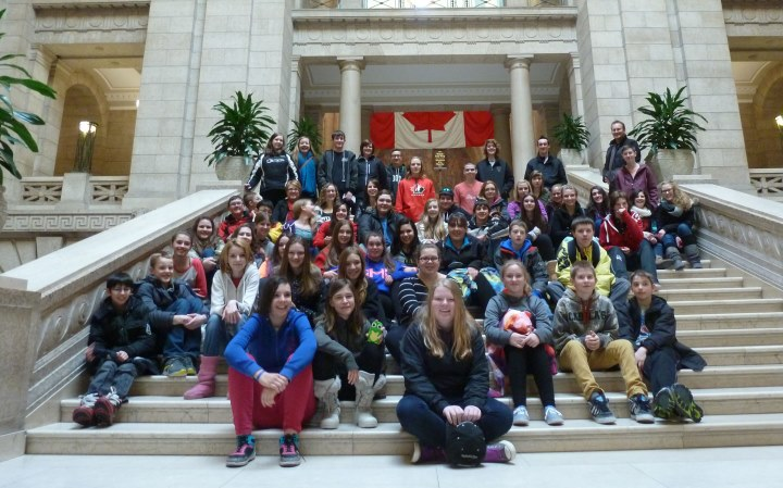 Elm Creek Students visit the Canadian Museum for Human Rights and the Legislative Building