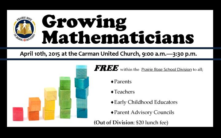 Growing Mathematicians Workshop Taking Place in Carman