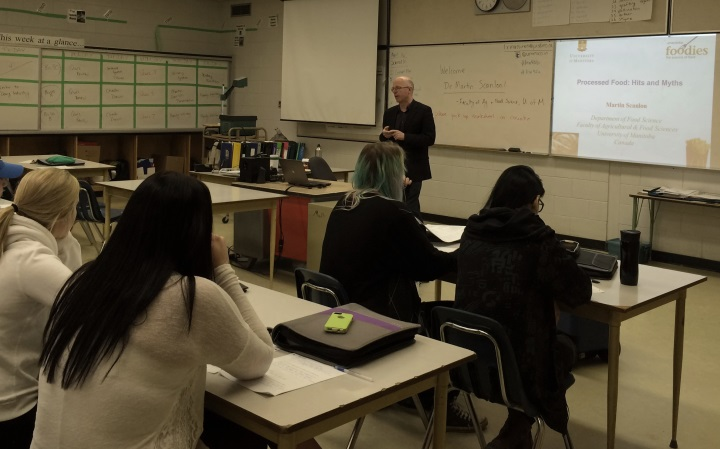 Faculty of Agriculture and Food Sciences Scientist speaks at Carman Collegiate