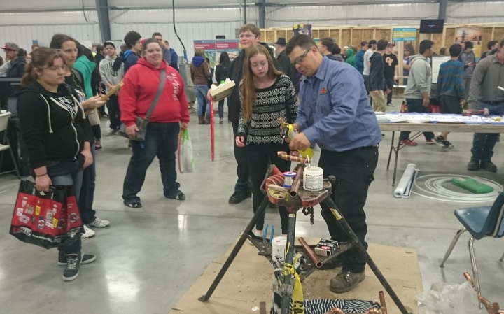 St. Laurent Students at the Construction Expo