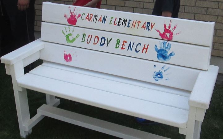 Buddy Benches at Carman Elementary