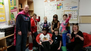 Grade 5/6 class enjoy Super Hero day