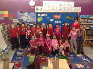 A sea of red and pink at Roland School