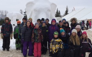 SFX students at festival de voyageur