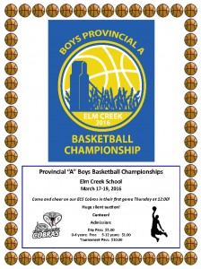 "Provincial ""A"" Boys Basketball Championships"