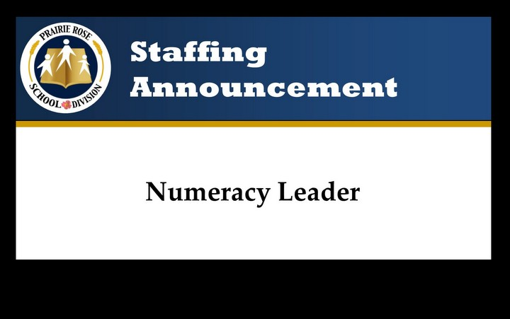 Staffing Announcement – Numeracy Leader
