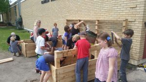 Carman Elementary Raised Flower Beds