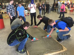 Students at Construction Expo