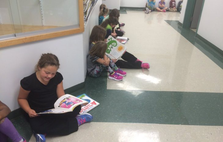 Miami School's First day of K & 4 Reading Buddies