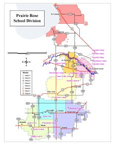 Prairie Rose School Division Map