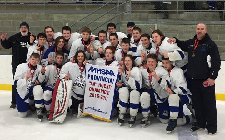 Carman Cougars AA Provincial Hockey Champs