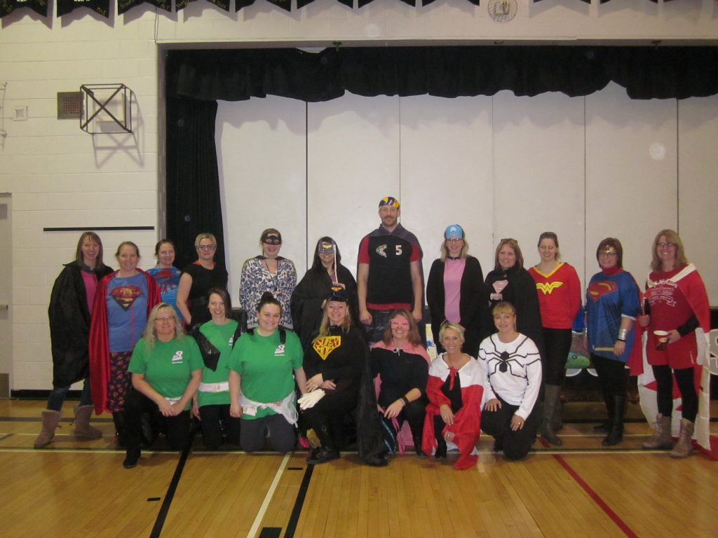 Superheros at Elm Creek School