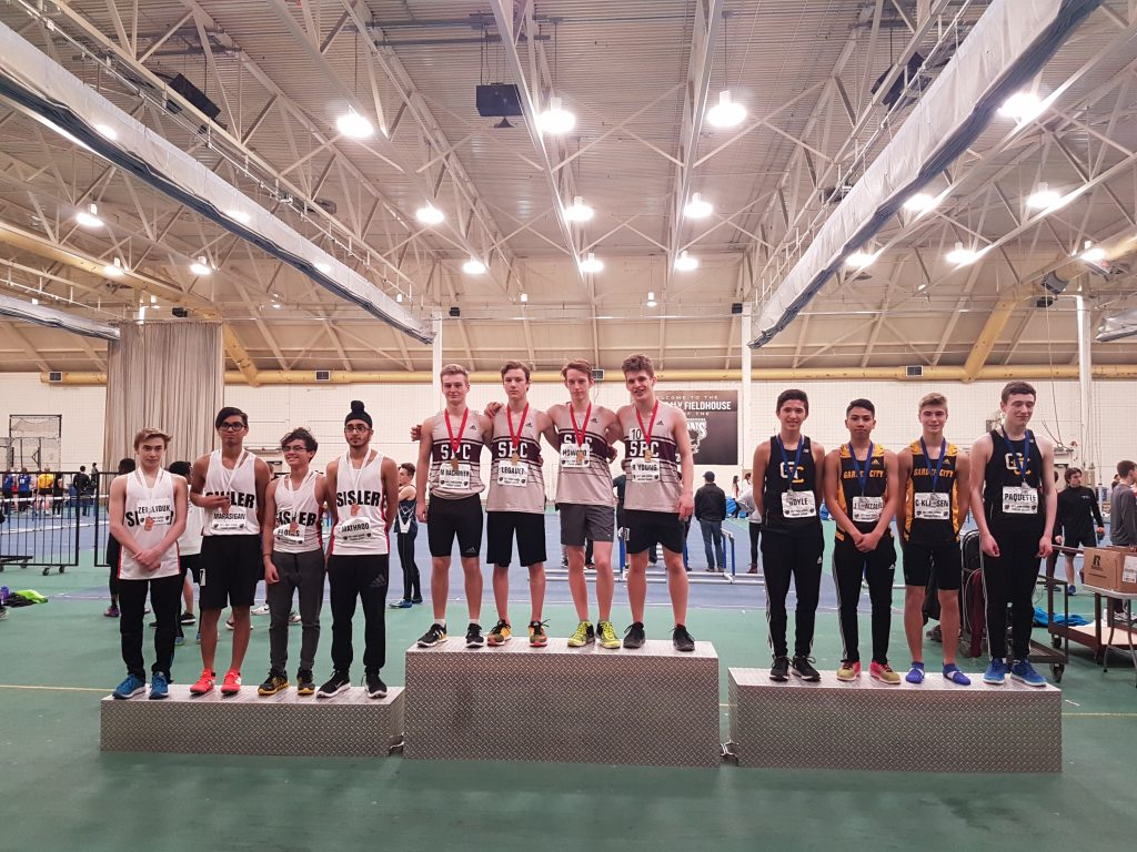 St. Paul's Collegiate JV Boys Medley Relay Team receive Gold
