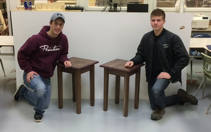 St. Paul's Collegiate Students craft table for charity raffle