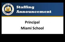 Staffing Announcement for the Miami Principal
