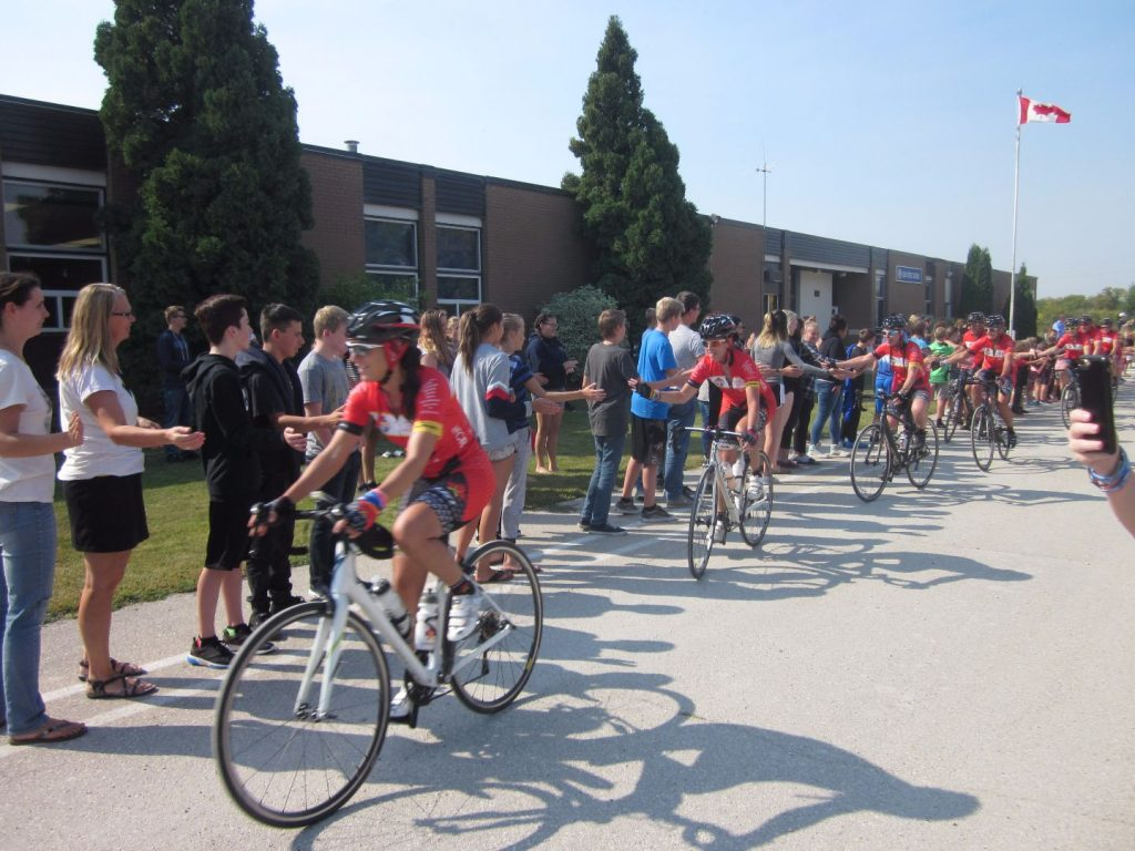 Cancer Ride visits Elm Creek School