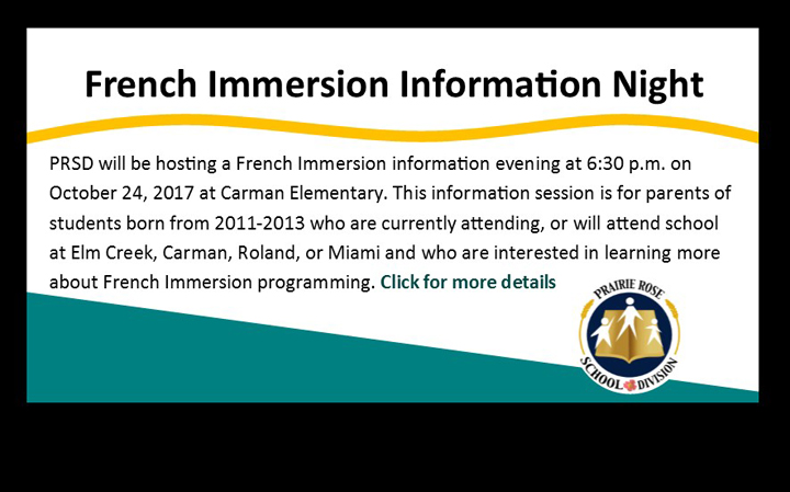 French Immersion Information Night
