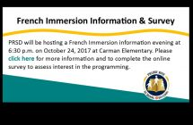 French Immersion Information Night & Survey