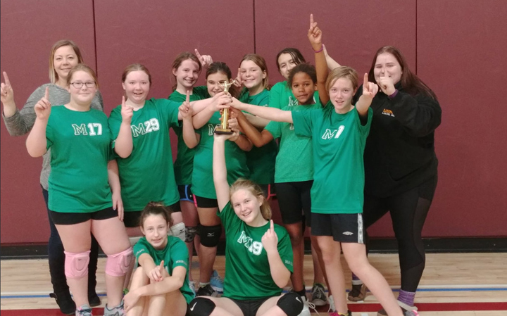 Miami Grade 7 and 8 volleyball champions