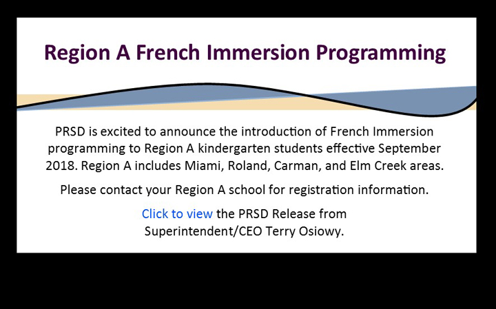 Region A French Immersion Programming