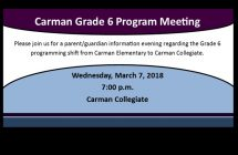 Carman Grade 6 Meeting