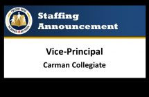 Carman Collegiate Vice Principal Announcement
