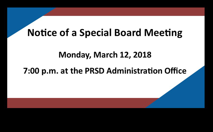 Special Board Meeting March 12, 2018