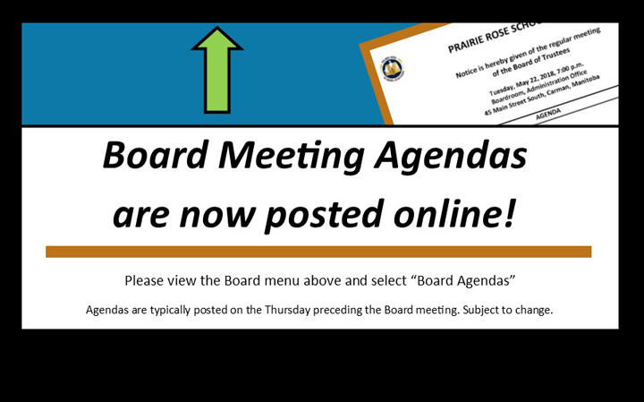 Board Meeting Agendas are online