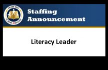Literacy Leader Announcement