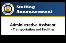 Administrative Assistant Announcement