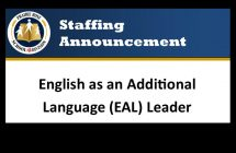EAL Leader Announcement