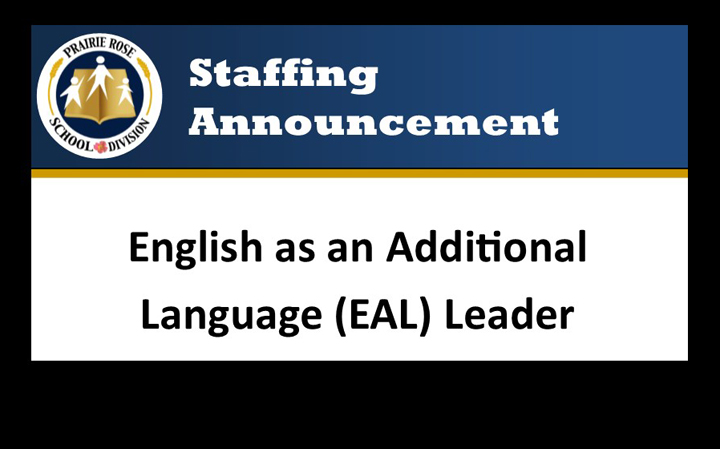 Staffing Announcement – EAL Leader