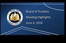 Board Meeting Highlights from June 4, 2018
