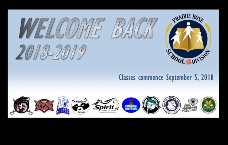 Welcome Back to the 2018-2019 School Year!