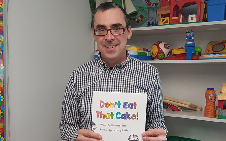 Don't Eat That Cake Book at Carman Elementary