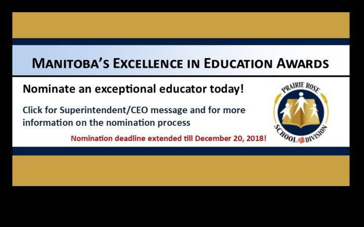 Manitoba Excellence in Education Awards – Extended Nomination Period