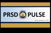 PRSD Pulse, posted December 17, 2018