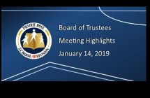 Highlights for January 14 Board meeting
