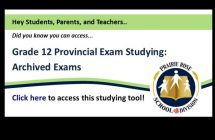 Access archived exams online