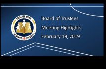 Highlights from the February 19, 2019 Board Meeting