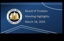 Highlights from the March 18, 2019 Board meeting