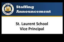 St. Laurent School Vice Principal Announcement