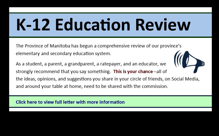 K-12 Education Review - opportunity for voice