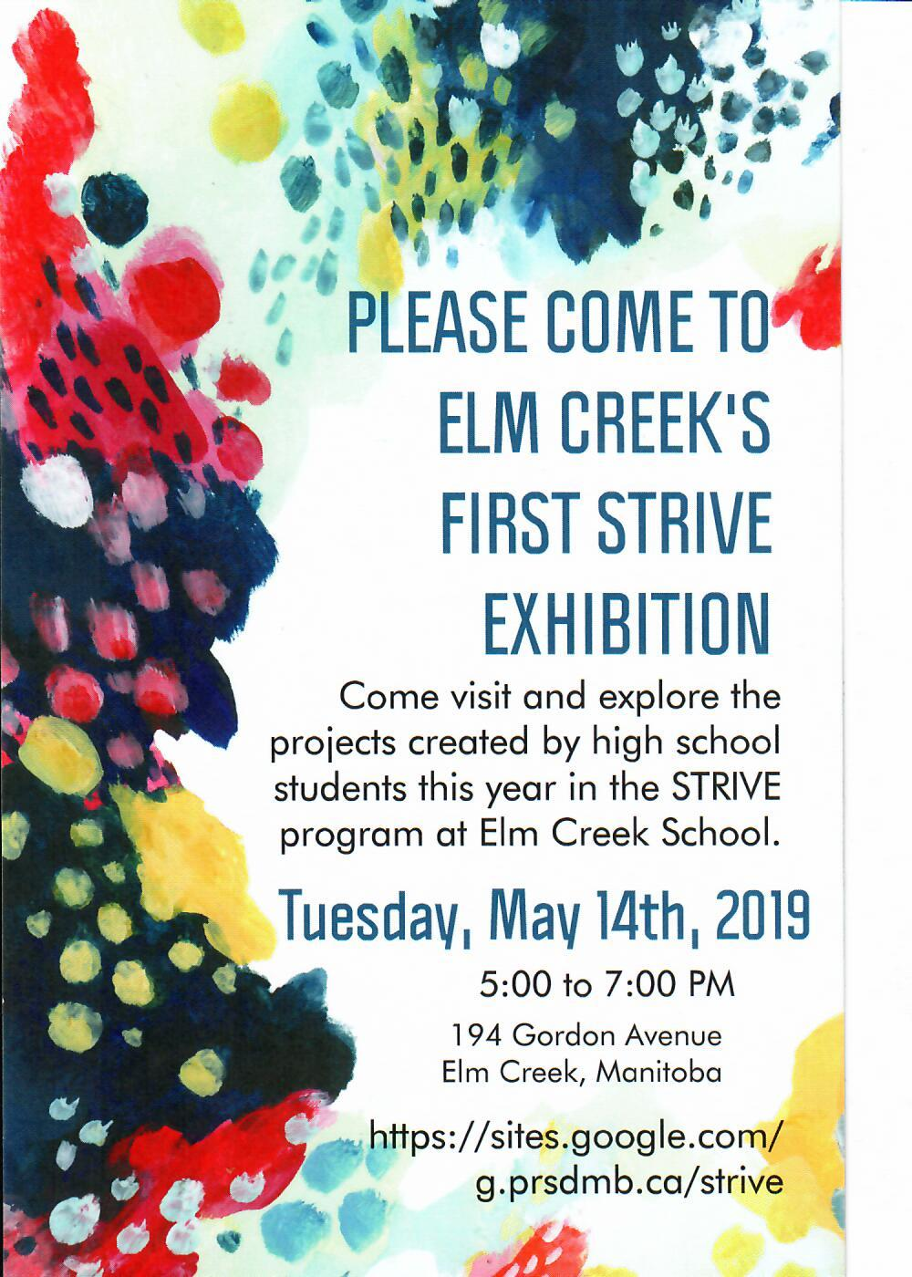 Elm Creek STRIVE Exhibition