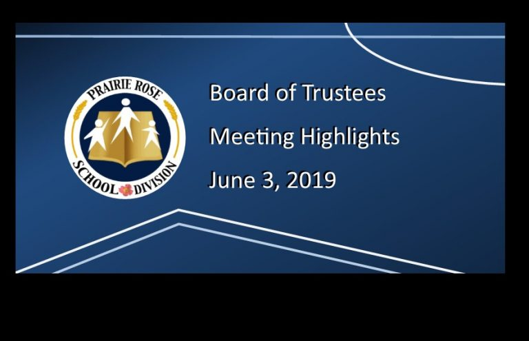 June 3, 2019, Board Meeting Highlights