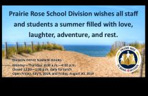 Summer Wishes and Division Office Hours