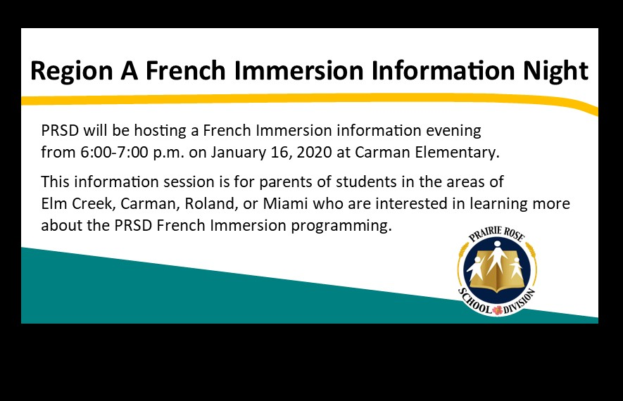French Immersion Session on January 16, 2020